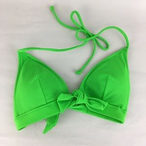 Victoria's Secret Bikini Triangle Top Green Bow XS